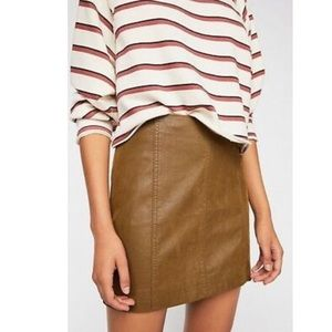 Free People Modern Femme Vegan Suede Mini Skirt 6